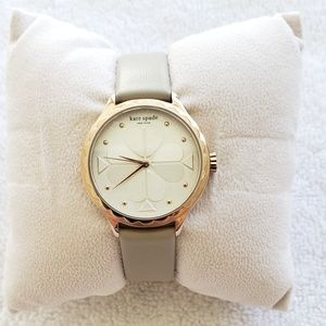 kate spade Rosebank scallop taupe leather watch
